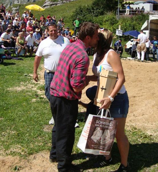Zum letzten Mal durfte Jost Britschgi am Frutt-Schwinget vor die Ehrendame treten.