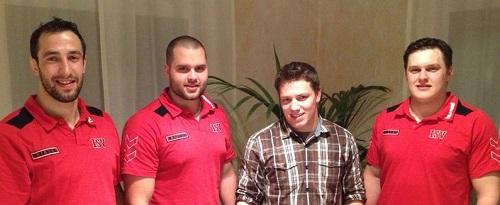 Die vier Kranzgewinner der Saison 2013 v.l.n.r.: Rohrer Marco, Gassmann Michael, Rohrer Beat, Gassmann Fabian